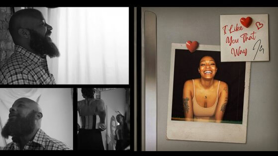 stills from the video by JClay of the song I Like You That Way