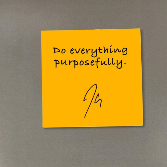 inspirational quote by JClay made to look like a sticky note