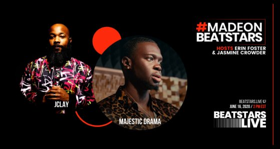 JClay and Majestic Drama Flyer for BeatStars Live interview