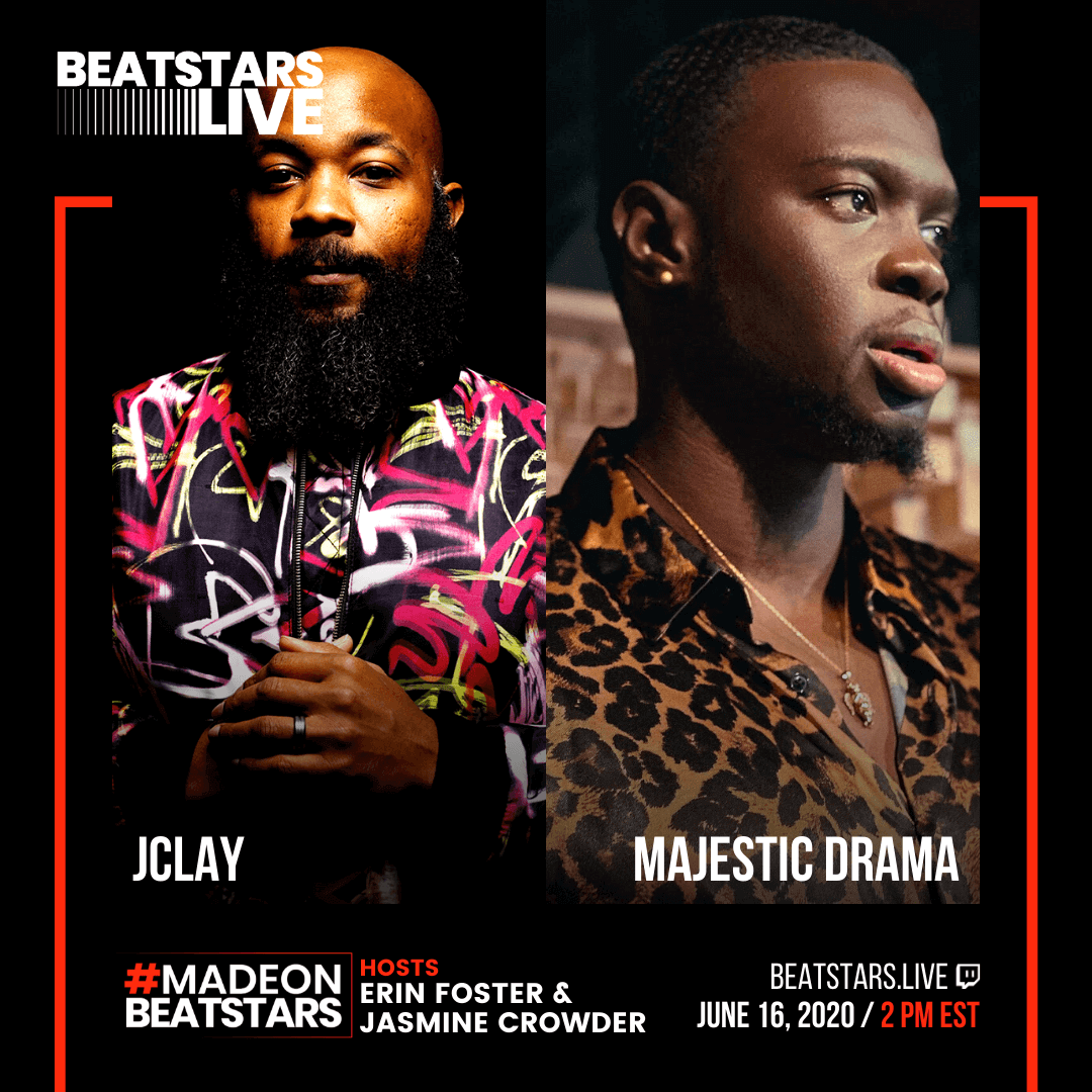 JClay and Majestic Drama Flyer for BeatStars Live event