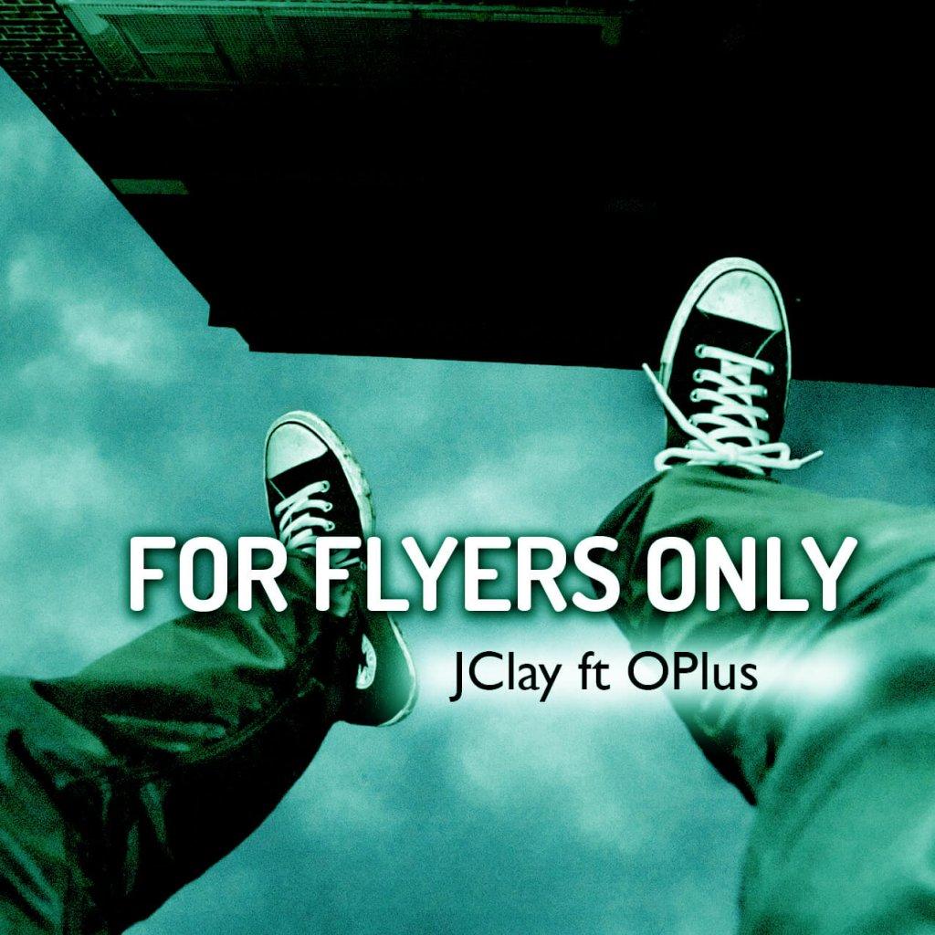 man flying sneakers