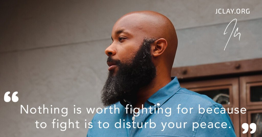 inspirational quote by jclay outside with beard bald head black