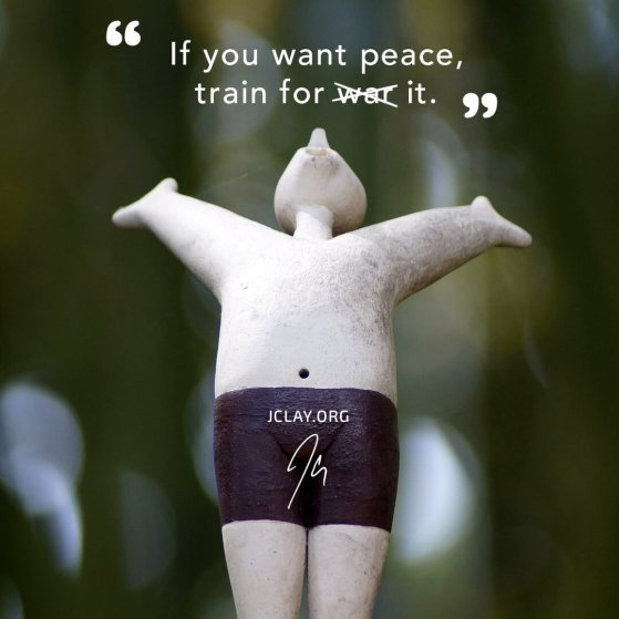 inspirational quote by jclay with a happy figure
