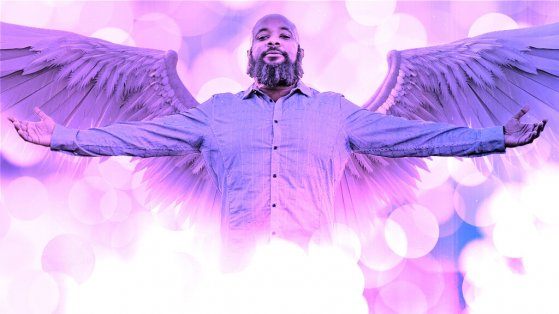 jclay arms out angel wings spread