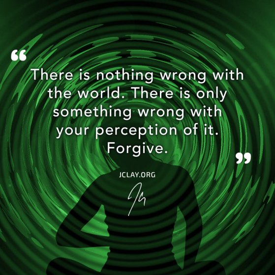 motivational quote by jclay about perception over green alpha ripple waves