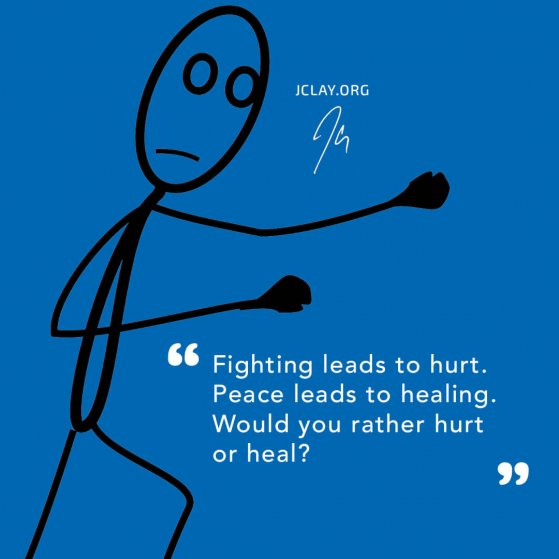 motivational quote by jclay about healing trauma with a stick figure