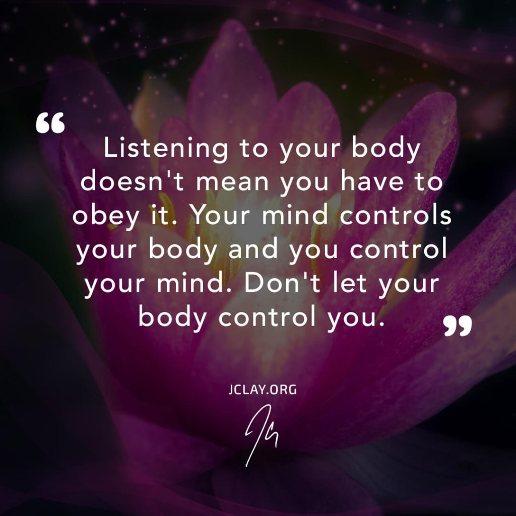 affirmation quote by jclay over a lotus flour about healing the body