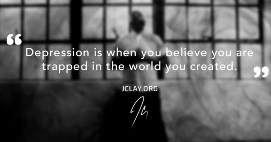jclay quote about depression with him in empty warehouse
