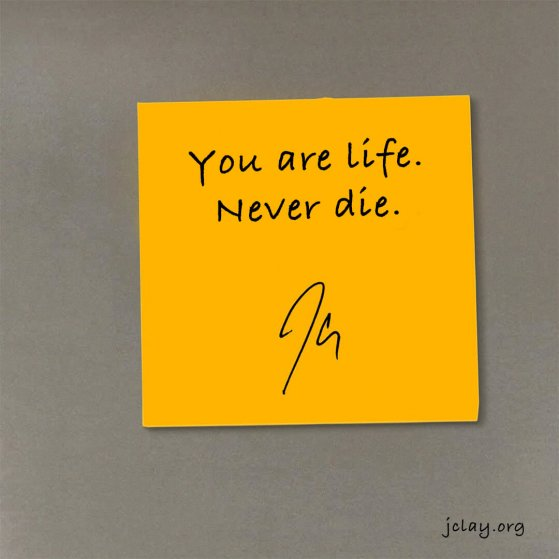 jclay quote over a yellow sticky note
