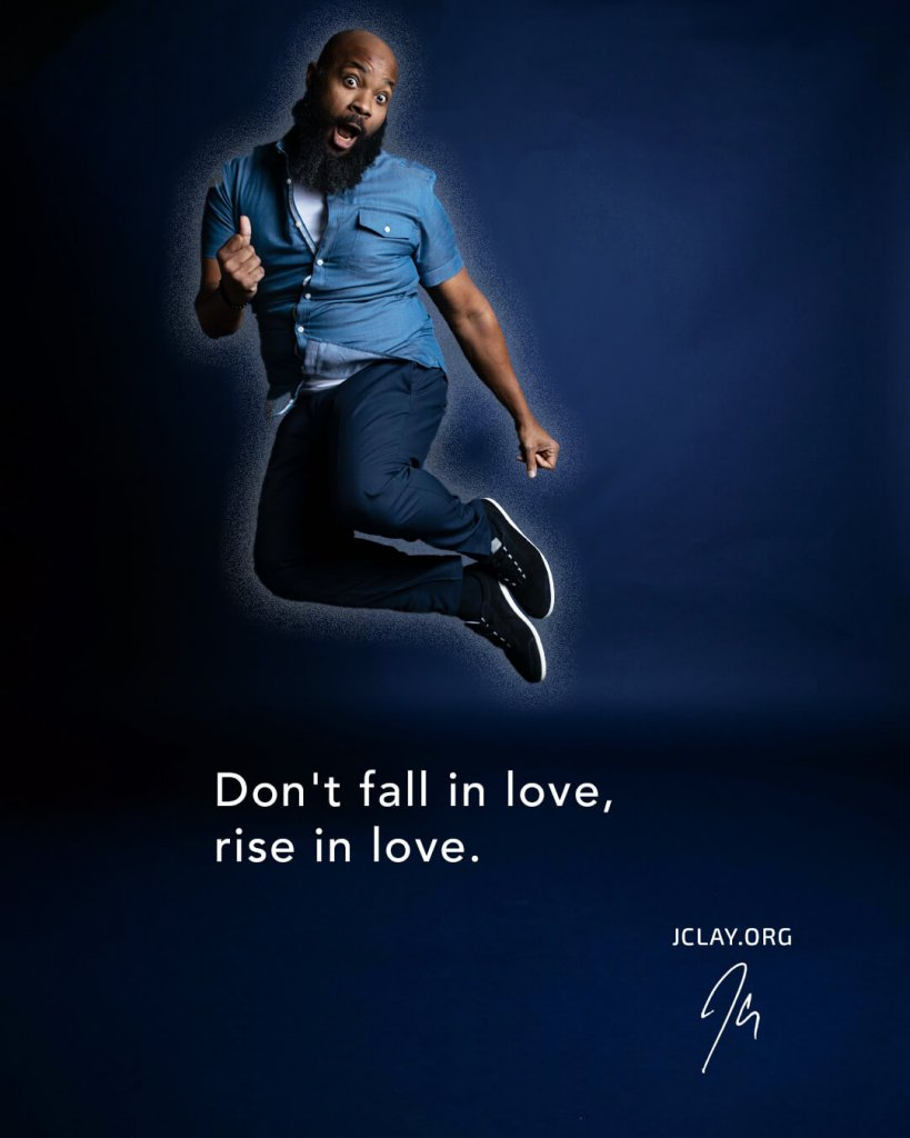 jclay jumping for joy in this inspirational quote about love