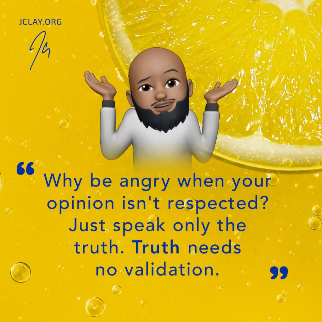 reflective quote by jclay over a yellow lemon background, gucci